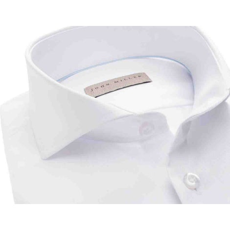 White gentlemen's tricot slim fit shirt 5137680-910-910-000