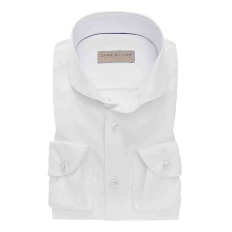 White slim fit hyperstretch shirt. 5138141-910-000-000