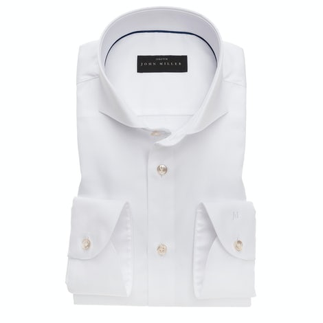 White natural stretch tailord fit shirt 5138161-910-910-000