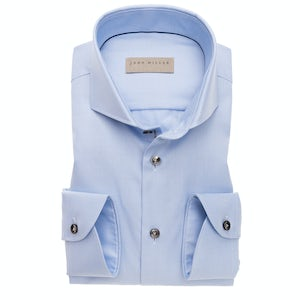 Light blue non iron slim fit shirt with extra long sleeves 5138225-130-285-000
