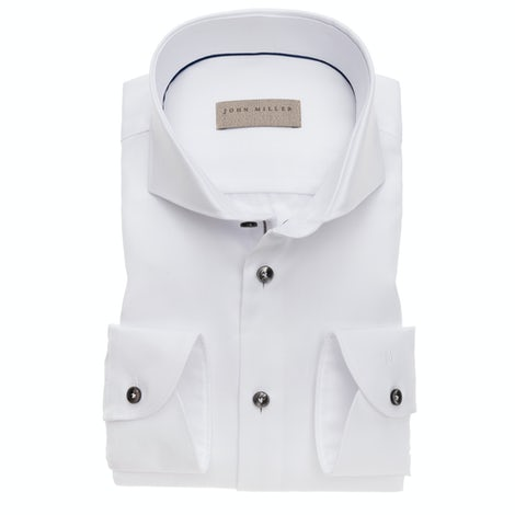 White non iron slim fit shirt with extra long sleeves 5138225-910-285-000