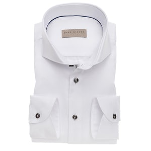White non iron tailored fit shirt with extra long sleeves 5138226-910-285-000