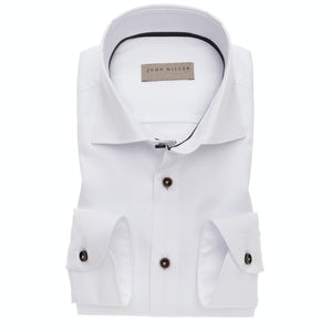 Wit non-iron slim fit shirt 5138232-910-680-670