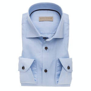 Light blue non-iron tailored fit shirt with extra long sleeves 5138235-130-680-670