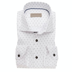 White print tailored fit shirt 5138241-640-180-000