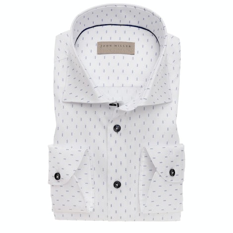 White print tailored fit shirt 5138243-170-180-000