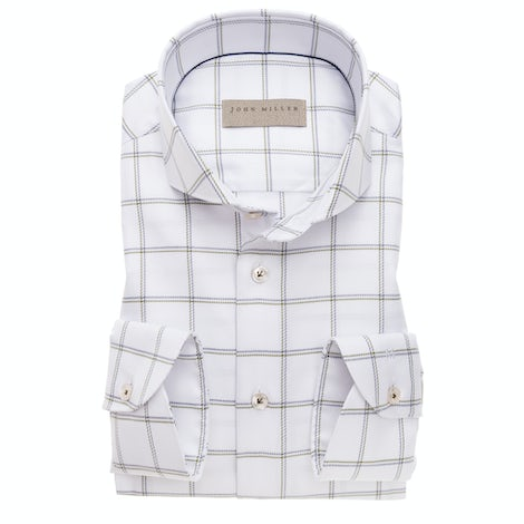 White checkered tailored fit shirt 5138265-530-000-000