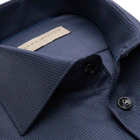 Dark blue tailored fit two ply shirt 5138273-180-180-000