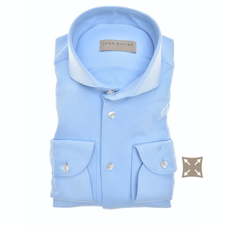 Blue hyperstretch tailored fit shirt 5138297-140-000-000