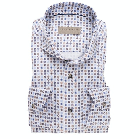 Multicolored print, tailored fit, 100% cotton easy iron, shirt 5138457-140-260-000