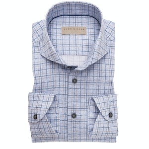 Tailored fit checkered shirt, with extra long sleeves, in a 100% cotton easy iron fabric 5138615-140-000-000