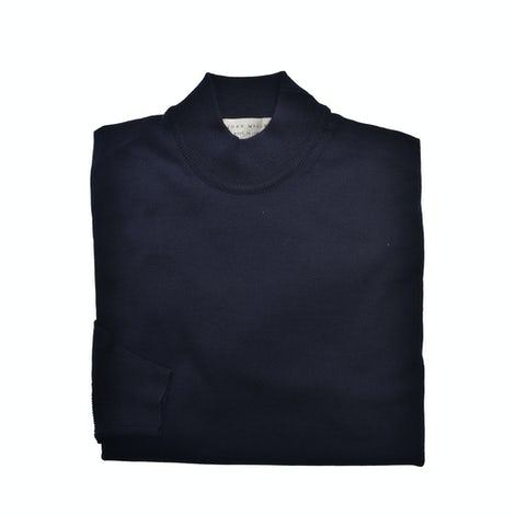 Dark blue men's pullover in 100% merino wool. 5138680-190-000-000