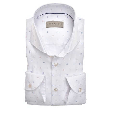 White print tailored fit shirt 5138882-916-000-000