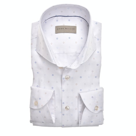 White print tailored fit shirt in extra long sleeves 5138884-916-000-000