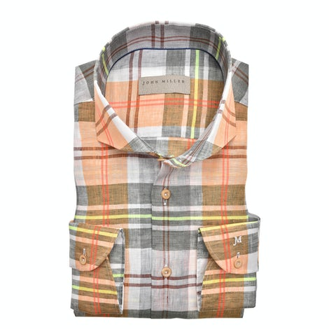 Multicolor check tailored fit shirt 5138962-540-000-000