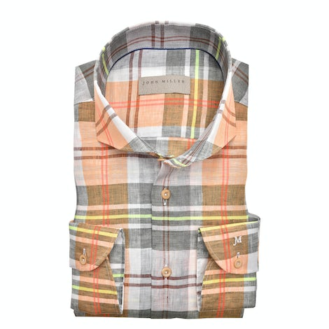 Multicolor ruit tailored fit overhemd 5138962-540-000-000