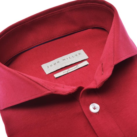 Red slim fit stretch polo shirt 5139273-450-000-000