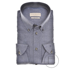Donkerblauw Tailored Fit overhemd 5139657-180-180-000