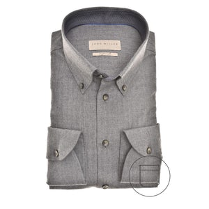 Donkergrijs Tailored Fit overhemd 5139657-280-180-000
