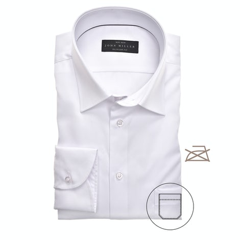 White non-iron regular fit shirt 5315501-910-000-000