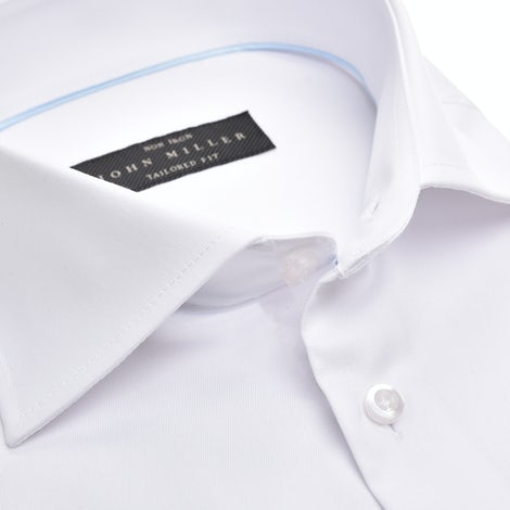 White non-iron tailored fit shirt with extra long sleeves 5333711-910-000-000
