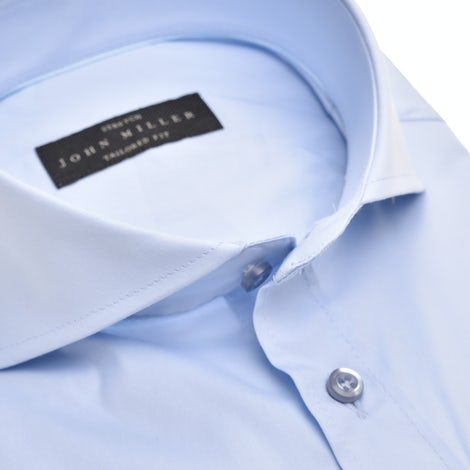 Light blue stretch tailored fit shirt 5336512-120-000-000