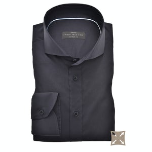 Donkerblauw stretch tailored fit overhemd 5336512-190-000-000