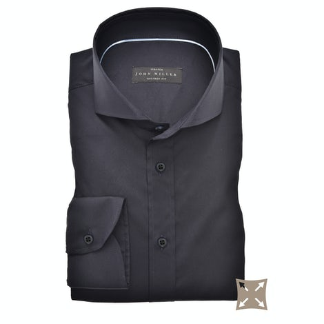 Dark blue stretch tailored fit shirt 5336512-190-000-000