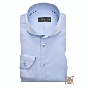 Light blue stretch slim fit shirt 5346512-120-000-000