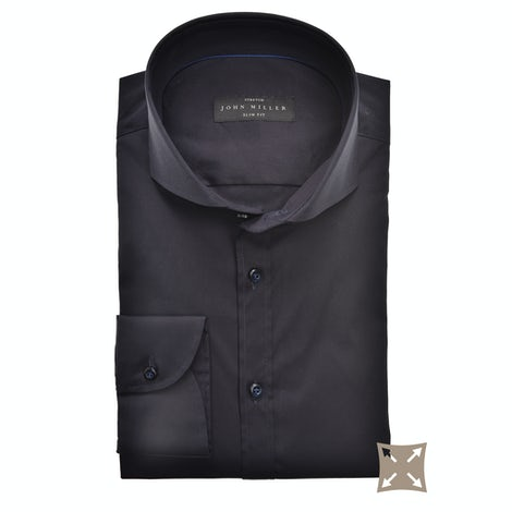 Donkerblauw stretch slim fit overhemd 5346512-190-000-000